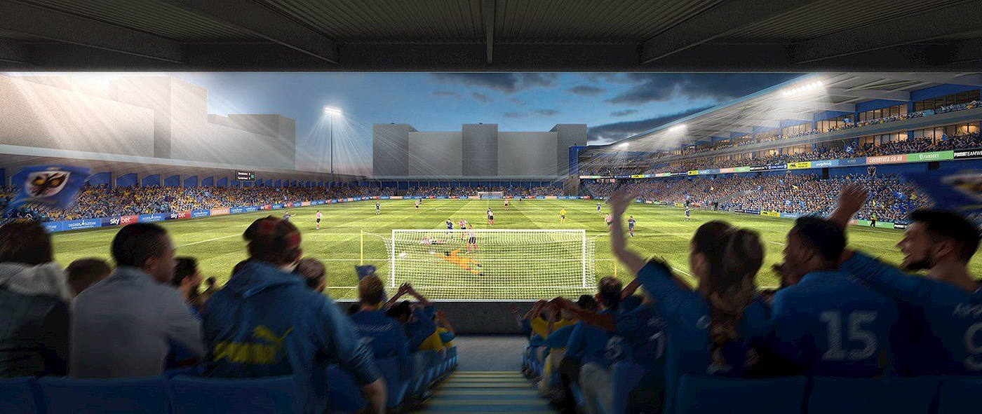 Artists impression of the view from the new stand